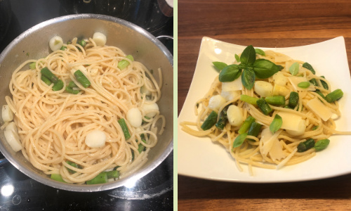 Spaghetti mit Spargel und Parmesan - Schritt 3