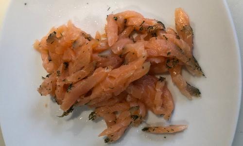Spargelsalat mit Graved Lachs - Anleitung