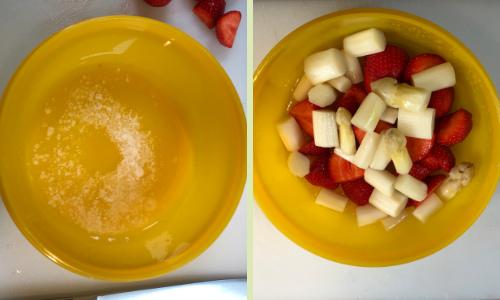 Spargel-Erdbeer-Salat mit Minze - Rezept