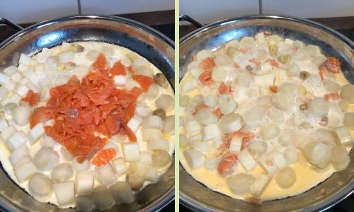 Spargel-Spaghetti mit Lachs-Forelle   Zubereitung